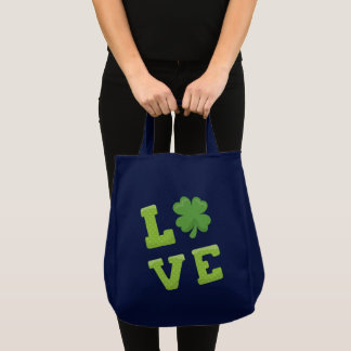 Love Block Letters St Patricks Day Tote Bag