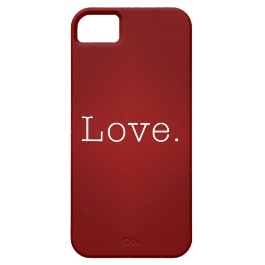 Love.  Blood Red Gradient And White Love Quote Case For The iPhone 5