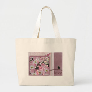 Love blossoms tote bags