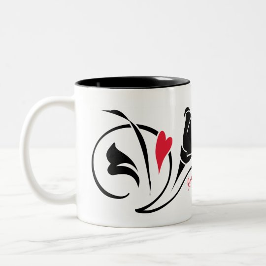 Love Blossoms Mug-Left Two-Tone Coffee Mug