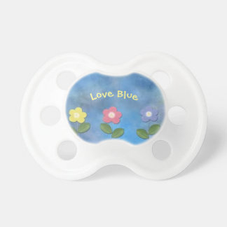 Love blue dummy 0-6 months BooginHead® Pacifier