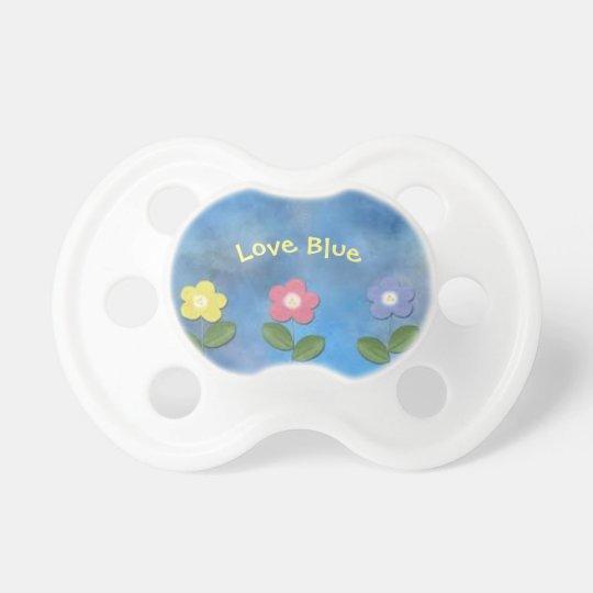 Love blue dummy 0-6 months BooginHead® Pacifier