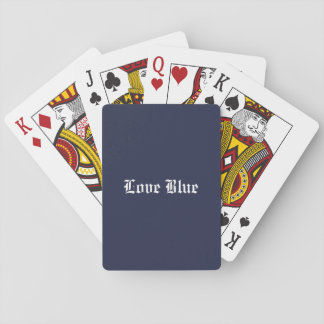 Love Blue Playing Cards