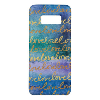 Love Blue Purple Gold Abstract Modern Watercolor Case-Mate Samsung Galaxy S8 Case