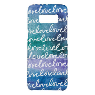 Love Blue Purple White Abstract Modern Watercolor Case-Mate Samsung Galaxy S8 Case