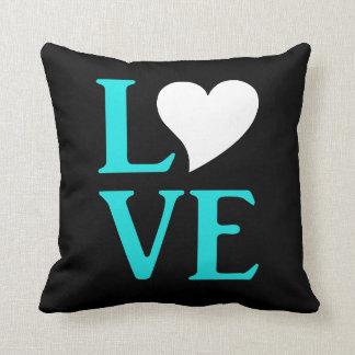 Love Blue Tiffany Wedding Celebration Throw Pillow