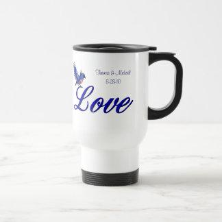 Love Bluebird Wedding Favor Travel Mug