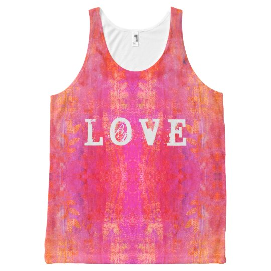 love boho design All-Over print tank top