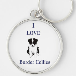 Love Border Collies Key Ring