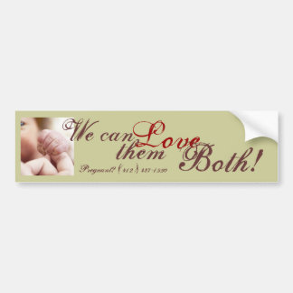 Love Both Bumper Sticker
