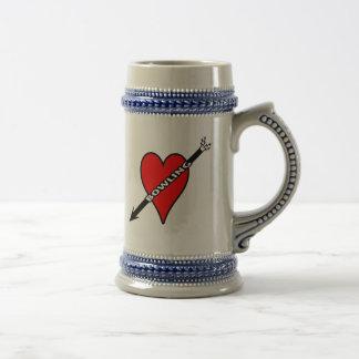 Love Bowling Heart Beer Steins