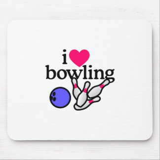 Love Bowling Mouse Pad