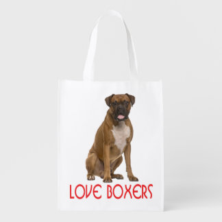 Love Boxer Puppy Dog Tote Bag
