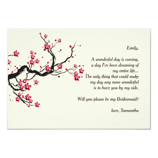 Love Branch Bridesmaid Request Cards