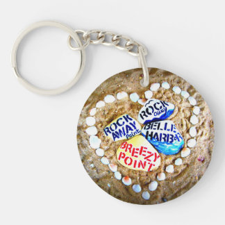 LOVE Breezy Point and Rockaways Single-Sided Round Acrylic Key Ring