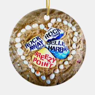 LOVE Breezy Point. Rockaways. Double-Sided Ceramic Round Christmas Ornament