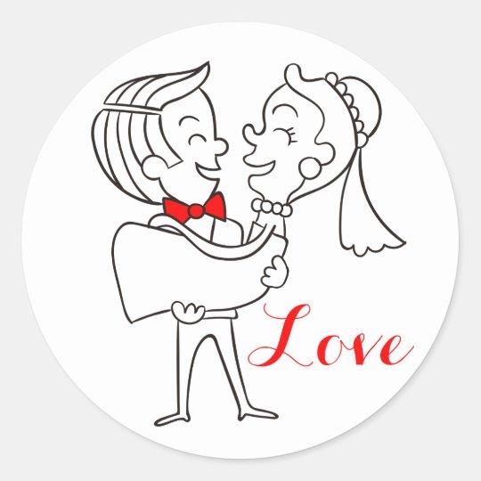 Love Bride And Groom Wedding Red, Black &
