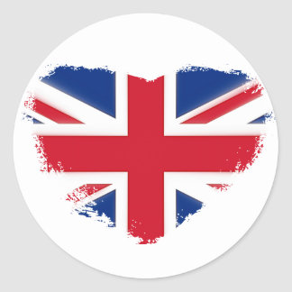 Love Britain Classic Round Sticker