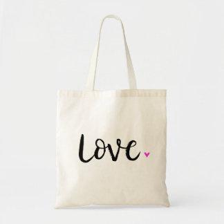 Love Brush Lettering Budget Tote Bag
