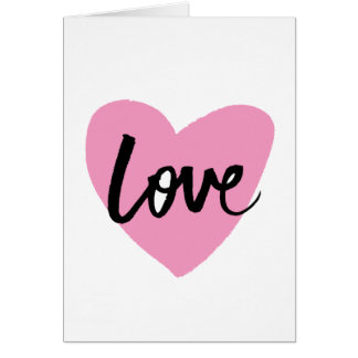 Love - Brush lettering Greeting Card