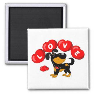 Love (Bubba) Square Magnet