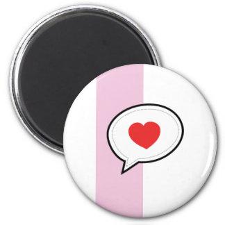 Love bubble 6 cm round magnet