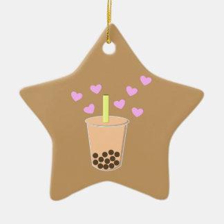Love Bubble Tea Christmas Ornament