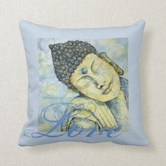 Love Buddha Watercolor Art Pillow