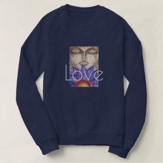 Love  Buddha Watercolor Art Sweatshirt