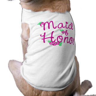 Love Buds/ Wedding Sleeveless Dog Shirt
