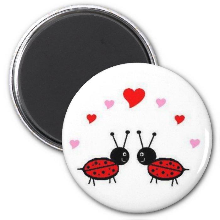 Love Bug 6 Cm Round Magnet