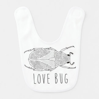 Love bug beetle bib