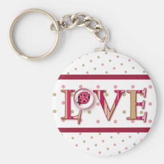 LOVE BUG BUBBLE DOTS by SHARON SHARPE Key Chains