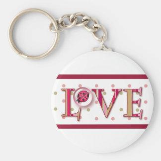 LOVE BUG BUBBLE DOTS by SHARON SHARPE Keychain
