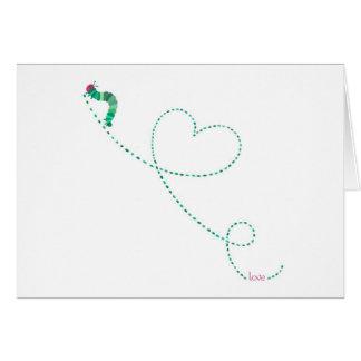 """Love Bug"" Caterpillar Card"