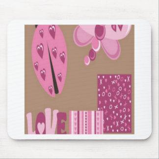 Love bug design mousepad