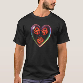 LOVE BUG & HEART BUBBLE by SHARON SHARPE T-Shirt