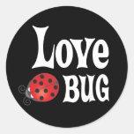 Love Bug - Ladybug Round Sticker
