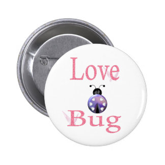 love bug purple 6 cm round badge