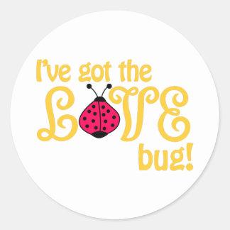 Love Bug Round Sticker