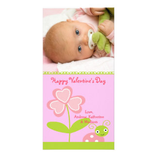 Love BUG Valentine's Day Photo Greeting Card