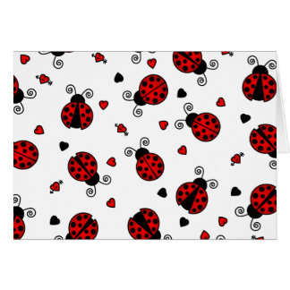 Love Bugs Red Ladybugs Card