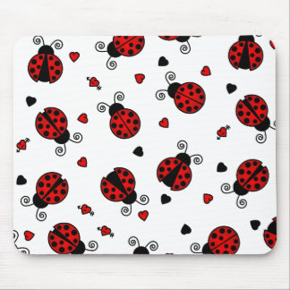 Love Bugs Red Ladybugs Mouse Mat