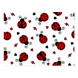 Love Bugs Red Ladybugs Postcard