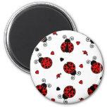 Love Bugs Red Ladybugs Refrigerator Magnets