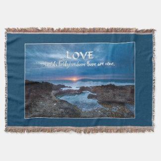 Love Builds Bridges throw blanket