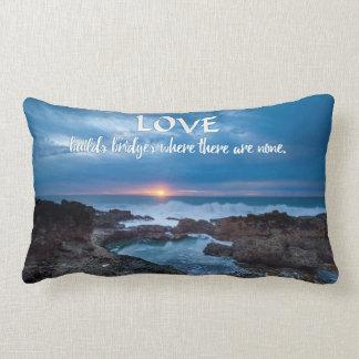 Love Builds Bridges throw pillow