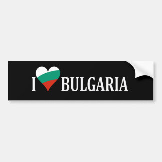 Love Bulgaria Patriotic Bumper Sticker