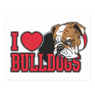 Love Bulldogs Postcard