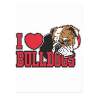 Love Bulldogs Postcard